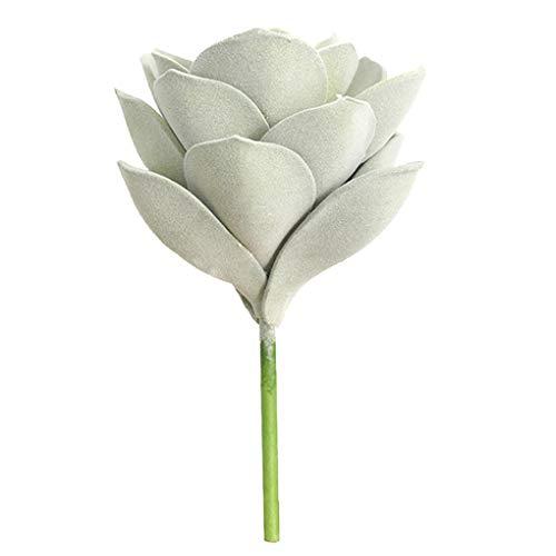 Mingtongli Falso Artificial suculento de la Flor de Ministerio del Interior Planta carnosa Decoración EVA decoración Floral, Grande, Verde