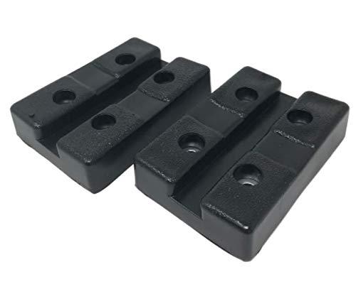 自動車 整備 汎用 リフト アップ 用 ゴム ブロック ラバー パッド ジャッキ ポイント 1基 分 4個 セット