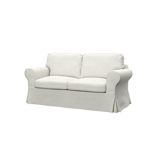Soferia - IKEA EKTORP Funda para sofá Cama de 2 plazas, Elegance Ecru