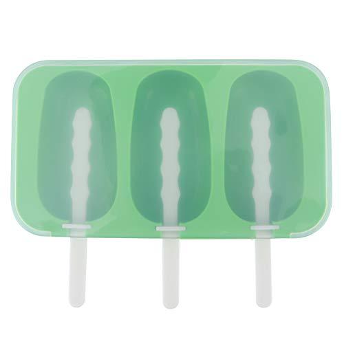 WEILafudong Molde de silicona casero para paletas con tapa (verde)