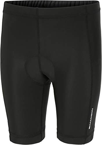 Madison Track Kids Padded Cycling Shorts - Black, Age 5-6 / Chamois Pad Bicycle Ride Cycle Bike Pant Comfort Mountain Padding Under Liner Children Child Infant Junior Youth Boy Girl Lycra Leg Wear