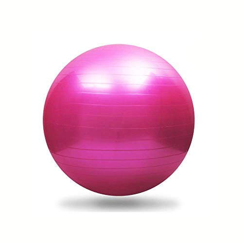Fullgaden Exercise Ball (55-75cm) with Quick Foot Pump, Professional Grade Anti Burst & Slip Resistant Stability Balance for Yoga, Workout, XL(68-75cm), Pink