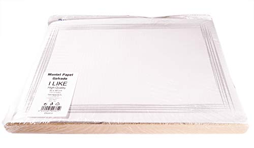 I LIKE Pack 250 UDS Mantel DE Papel GOFRADO Individual 30 x 40 cm - Color Blanco