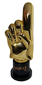 Plastic Gold Trophies Oscar Trophy Thumbs Up Trophy High Five Trophy Youre #1 Trophy Star Trophy Banana Trophy Rock Star Trophy by Playscene  5  Inches You re #1-12 Pack