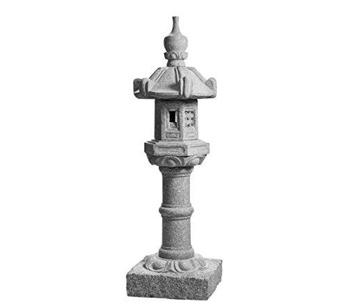 Dehner Laterne Kasuga, Ø ca. 30 cm, Höhe ca. 90 cm, Granit, grau