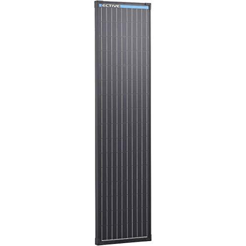 ECTIVE 12V 90W Monokristallines Solarmodul Black Edition mit 32 Zellen Solarpanel mit Sicherheitsglasplatte MSP90 Black in 13 Varianten 50-190 Watt