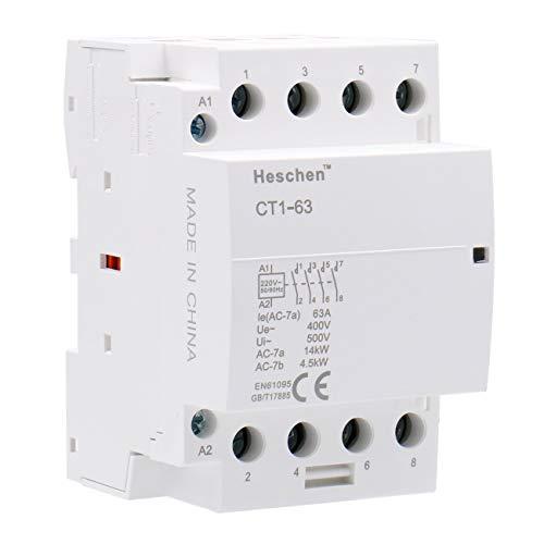 Heschen Contactor de CA del hogar CT1-63 4 polos cuatro...
