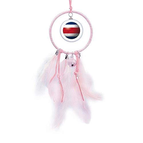 Atrapasueños con bandera nacional de Costa Rica, diseño de campanilla pequeña para decoración de dormitorio