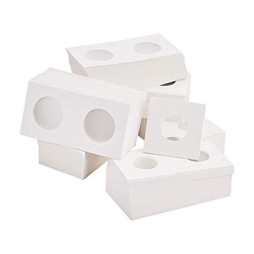 PandaHall Elite 300 STK. 6 Größen, weißer Karton, Münzhalter, Coin Flip Flip, Mega-Sortiment für das Sammeln von Münzen