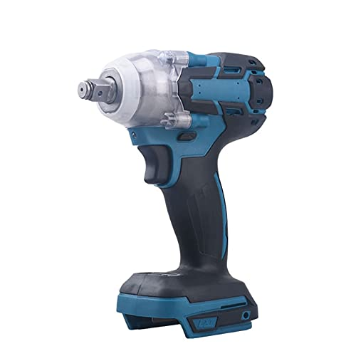 Bluetooth earphone Cordless Impact Drill Electric Screwdriver Impact Driver Rechargeable 1/2 Inch Wrench Power Tools Compatible with Makita 18v Battery (No Battery & Charger Included) (Size : C)