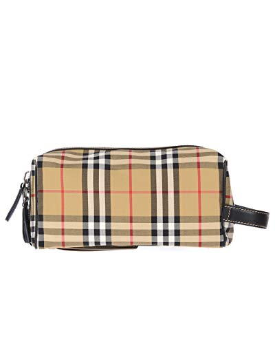 Burberry Vintage Signature London Check Pouch Wash-Bag Toiletry Travel Case