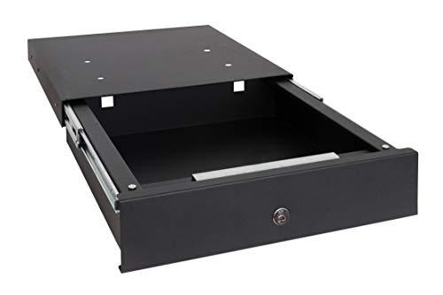 Arregui Box-in 22000-S1 Tresor zur Tranung in der Küchensockel, 9,8x41x45 cm, 12 L, schwarz