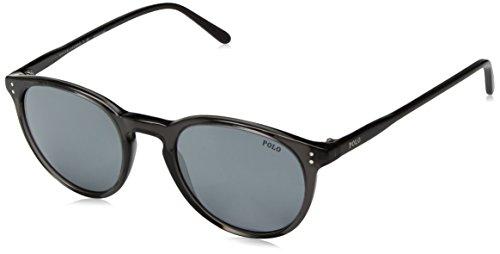 Polo Ralph Lauren Herren 0PH4110366G Sonnenbrille, Schwarz (Shiny Black Crystal/Greymirrorflash), 50