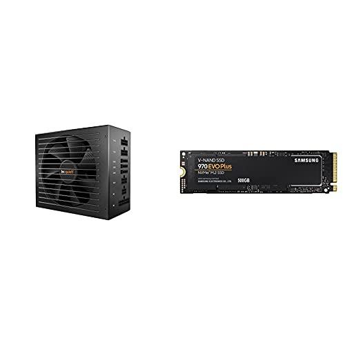 be quiet! Straight Power 11 unité d'alimentation d'énergie 550 W 20+4 pin ATX ATX Noir & Samsung 970 EVO Plus MZ-V7S500BW Disque SSD Interne NVMe M.2, 500 Go, Jusqu'à 3 500Mo/s en lecture sequentielle