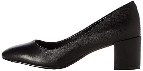 Find. Leather Round Toe Block Heel Court Zapatos Tacón