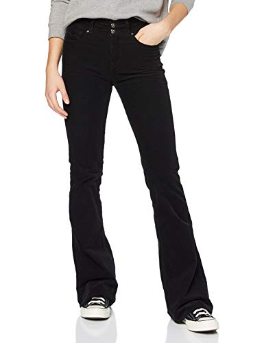 REPLAY NEWLUZ Flare Jeans, 098 Negro, 26W / 34L para Mujer