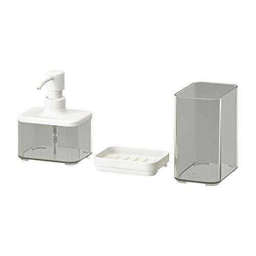 My- Stylo collectie 3-delige badkamer set, gemakkelijk te navullen, materialen: mok/zeep afwas/doos/deksel: pet-plastic (Min. 20% Gerecycled) Voeten: Synthetische Rubber Pomp: Polypropyleen Kunststof, Polyethyleen Kunststof