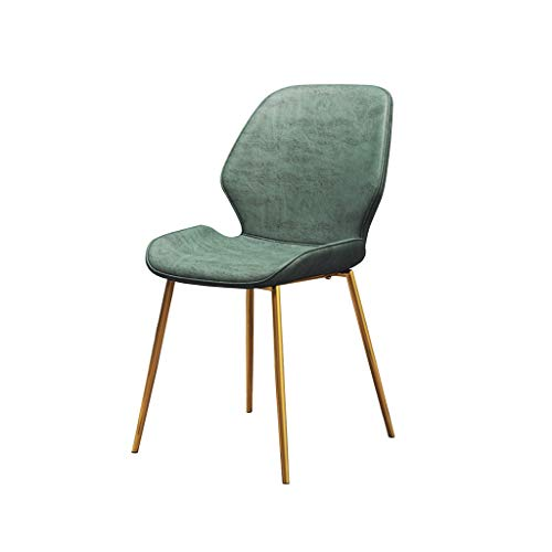 Keuken Eetstoelen, Eetkamer Keuken Woonkamer Slaapkamer Koffie- / Leeshoek Voorzitter Of Bureaustoel Soft Velvet Dining Chair (Color : Green, Size : Gold legs)