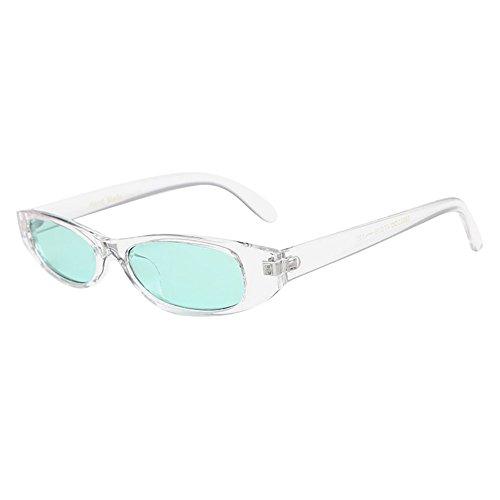 EVA Schmuck Retro Runde Katzenaugen Sonnenbrille Retro Weinlese-Schlag-Katzen-Unisexsonnenbrille-Rapper-Oval-Schatten-Schmutz-Gläser