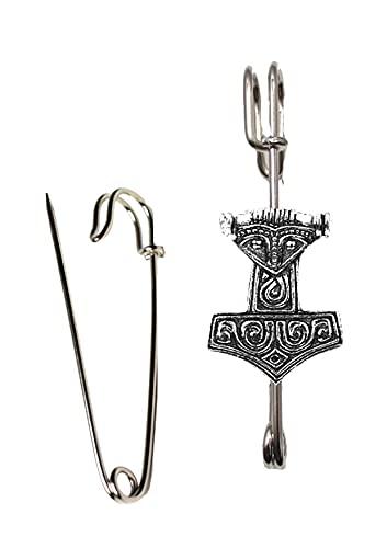 ww9 Viking Thor's Hammer diseño de peltre en un broche de 3 pulgadas