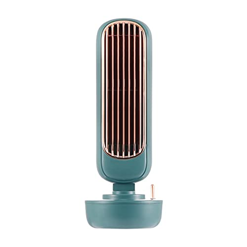 Greatangle-UK Mini Ventilador de Aire Acondicionado para Estudiantes Enfriador de Escritorio con USB y rociador para Oficina con Ventilador de refrigeración por Agua Verde