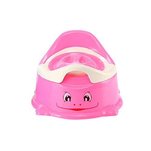 Pratique Toilette Toilette Toilette Femelle Enfant Garçon Petit Siège de Toilette Toilette Toilette Bleu Rose (Color : Pink, Taille : 25 * 25 * 18cm)