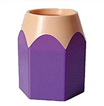 DaoRier Stiftehalter Stifteköcher Büroaufbewahrung Schreibtisch-Organizer 10.5*7.5cm violett