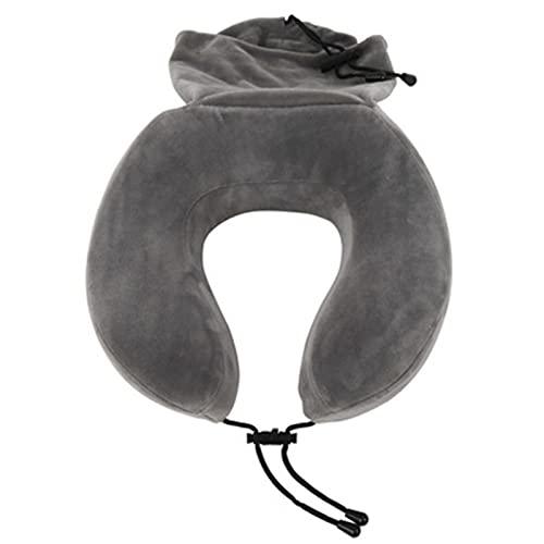 Almohada de viaje de espuma viscoelástica para niños, almohada cervical, reposacabezas, almohada de viaje con bolsa de almacenamiento