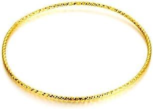Burenqi@ Men's & Women's Bracelet Base Hip Hop Punk Gold Round Jewelry Wedding Party 2pcs/Set