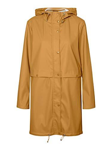 VERO MODA Damen VMEVERYDAY 3/4 Coated Jacket GA Regenjacke, Amber Gold, XS