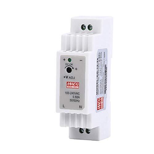 Suministro de energía del riel DIN DR-15-12 15W 12V 1.25A salida conmutación individual industrial de energía automático de refrigeración