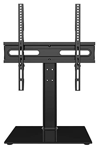 TabloKanvas Giratorio Universal TELEVISOR Posición de Soporte TELEVISOR Párese por 27-55 Pulgadas LCD LED T Vs - TV Ajustable en Altura (Color : Black)