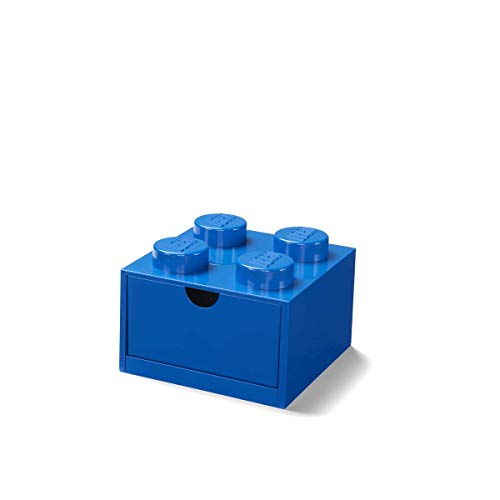LEGO Caja de Almacenamiento en azul de 4 espigas para escritorio (#40201731)