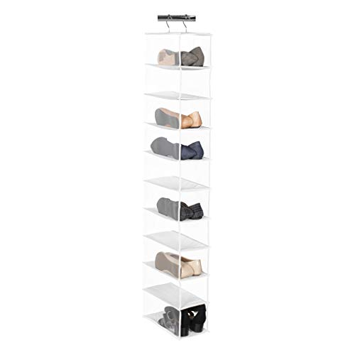 Richards Homewares 842C Clearly Clear Tier Vinyl Storage 10 Compartment Shoe Organizer