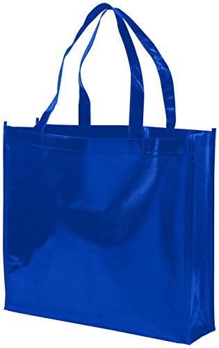 Bullet Shopper aus Vlies Laminat Shiny Royal Blu