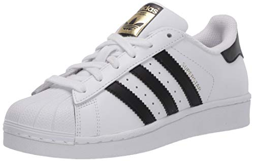 adidas Originals Junior's Superstar Sneaker, White/Core Black/Core White, 5.5