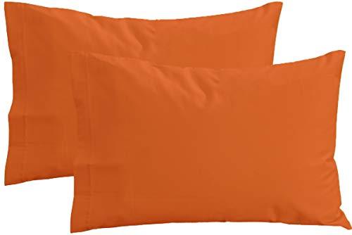 PERLARARA - Set 2 Funda de Almohada para Cama de Bebé 100% Algodón cm 40 x 60 Lavable (Naranja)