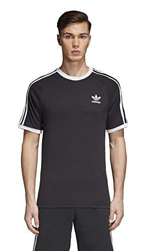adidas Originals mens 3-Stripes Tee Black/Black Large