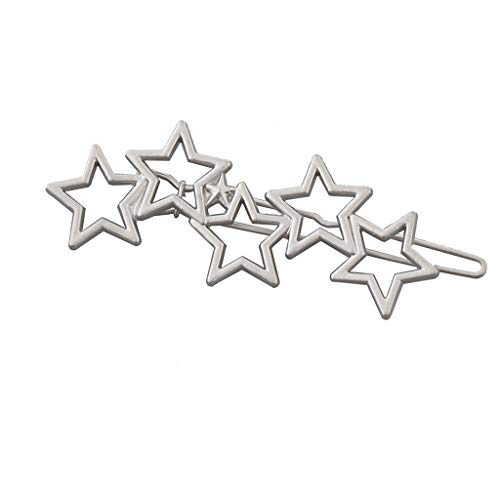 Frauen-Metallblatt-Form-Haar-Klipp-glatte Haarnadel - Silber