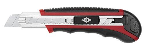 Wedo 0784018 Cutter con Auto-Load, 18 mm, Caricatore a 6 Lame, Rosso/Nero