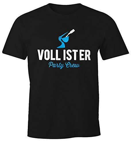 MoonWorks Lustiges Herren T-Shirt Vollister Bier Fun-Shirt schwarz L