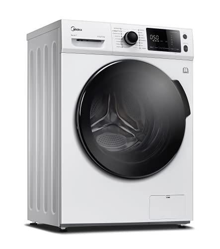 Midea WT 7.860 iN Waschtrockner / 47,5cm tief Slim Design / 8/6kg Waschen/Trocknen / Steam Care / BLDC-Inverter-Motor / 1500 U/min / Nachlegefunktion / 60 Min. Waschen & Trocknen, Weiß