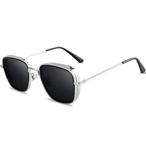 SHEEN KELLY Luxe merk Vintage Square zonnebril voor mannen Kabir Singh zonnebril Tony sterke bril Mirror Shades voor vrouwen