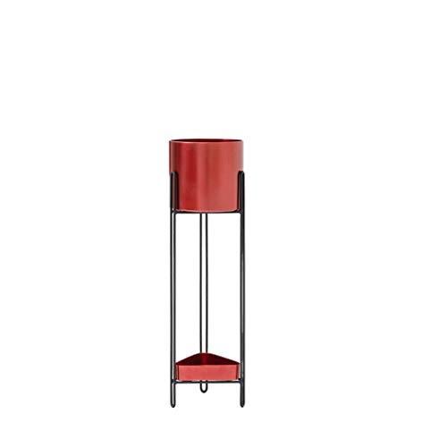 LRW Scandinavische stijl, bloempot, op voet, rood, smeedijzer, balkon, multi-niveaus, woonkamer, bloempot, moderne bloemenstandaard
