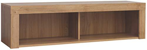 Boardd - Estante flotante para pared de madera, estante de almacenamiento de pared para sala de estar, cocina, sala de niños, pasillo, dormitorio, Riviera, roble/blanco brillante, 120 x 31,5 cm