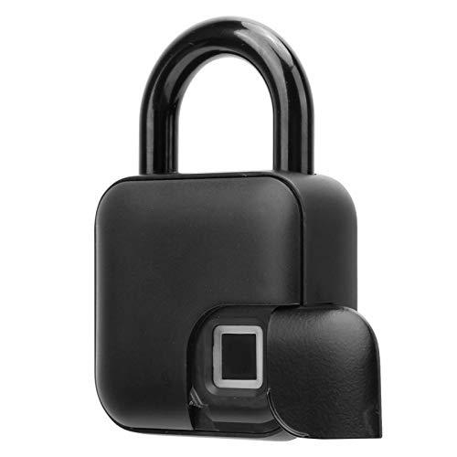 Candado inteligente de huellas dactilares sin llave, una llave para desbloquear la carga USB, candado inteligente con pantalla de luz indicadora de 3 colores, adecuado para taquillas/armario/gimna