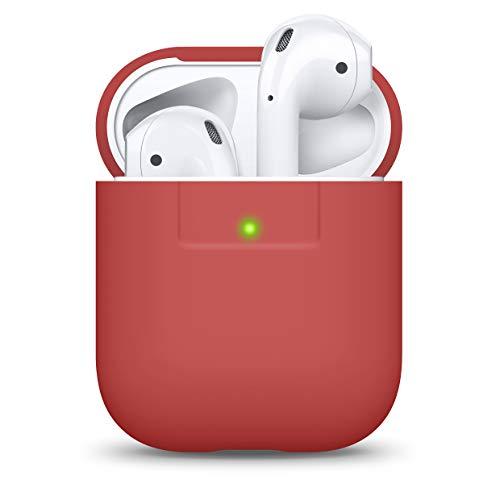 elago Funda AirPods Case Funda Premium Silicona Diseñado para Apple AirPods 1 & 2 (Rojo)