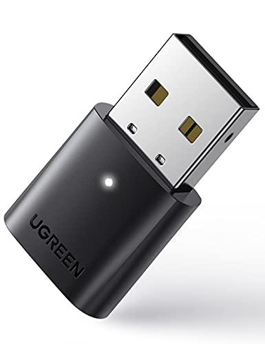 UGREEN USB Bluetooth 5.0, Adaptador Bluetooth para PC Portátil Windows 10 8.1 7, A2DP Dongle Bluetooth Compatible con Mandos de PS5 PS4,X BOX ONE S, Bluetooth Auriculares Teclado Ratón Altavoces,Móvil