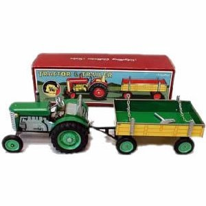 KOVAP Zetor Traktor, mit Anhänger, grün