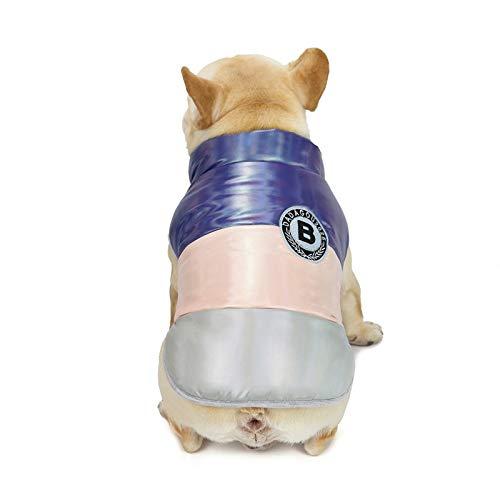 Ropa Cálida Para Mascotas Otoño Invierno Chaqueta Para Mascotas Para Perros Impermeable A Prueba De Viento Abrigo Para Perros Chaqueta Cachorro Chihuahua Bulldog Francé(Color:púrpura,Size:Extragrande)